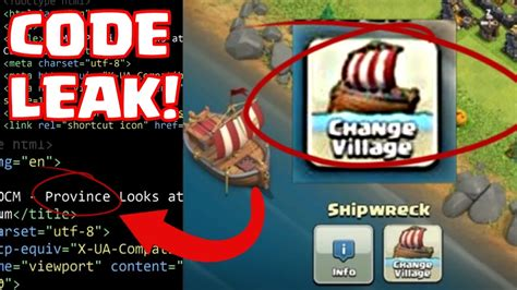 clash of clans broken boat clash of clans broken boat change village new update