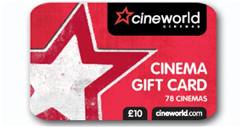 Cineworld Gift Cards - full wedding gift list range the gift list