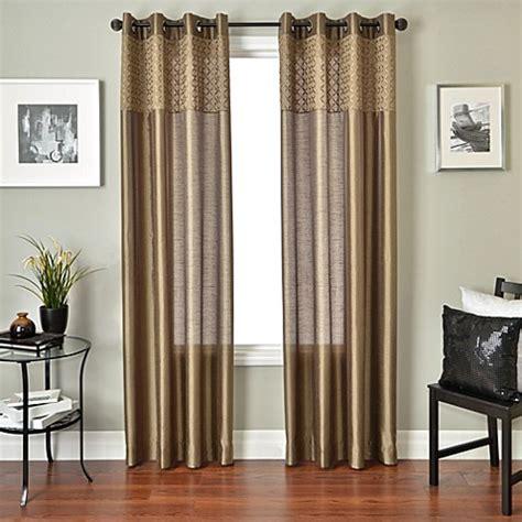 sage window curtains buy softline genie 84 inch window curtain panel in sage