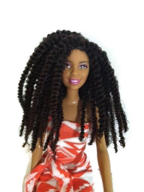 black doll with hair black twist hair dolls