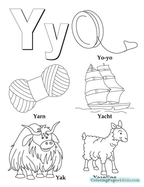 Printable Letter Y Coloring Pages | Free Printable ... Y Coloring Pages