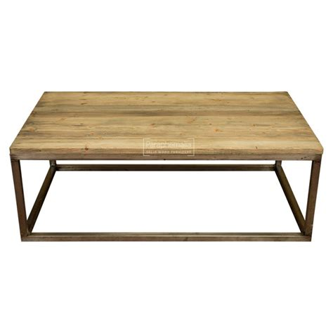 Wood Coffee Table Metal Legs Large Reclaimed Pine Wood Coffee Table With Metal Legs Weathered Oak Finish Top