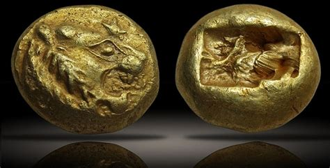 ancient coins lydian gold considered   coins
