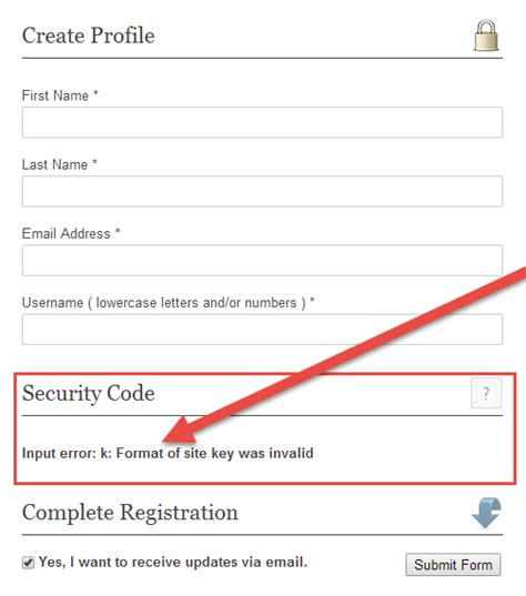 classic setting up google recaptcha for your website registration form recaptcha showing error message
