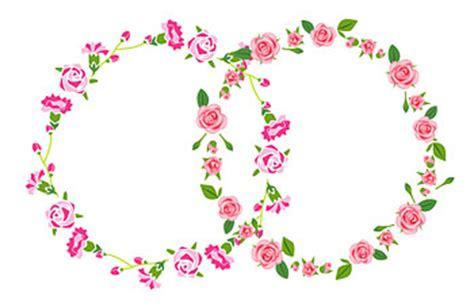 desain bunga melingkar rose vektor bahan free download