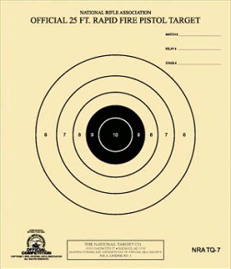 printable pistol 10 yard targets official nra handgun targets pistol revolver shooting