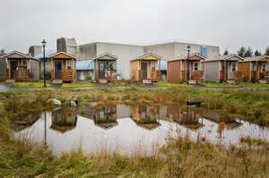 tiny home communities dignity village tiny homes community for homeless in portland oregon the shelter blog