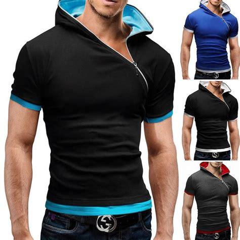 design t shirt man t shirt men brand 2017 fashion men s hooded collar oblique
