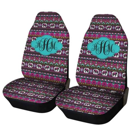 tribal pattern car seat covers elephant aztec car seat covers set of two front seat
