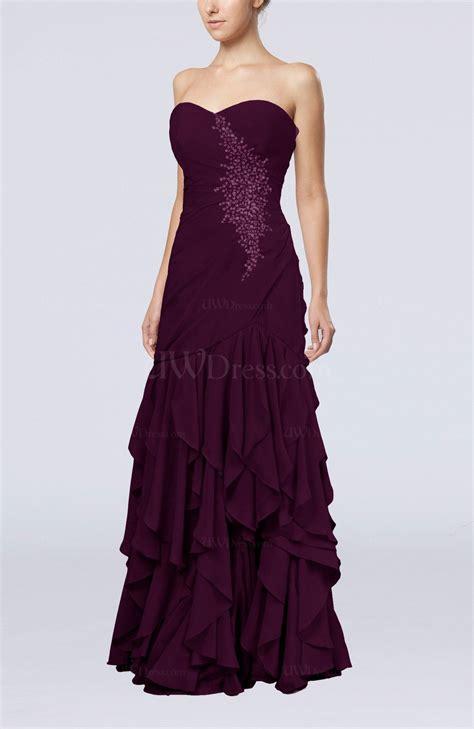 beaded homecoming dresses plum gorgeous column chiffon floor length beaded