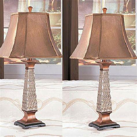 copper table lamps antique finish lighting bedroom living room decor set   ebay