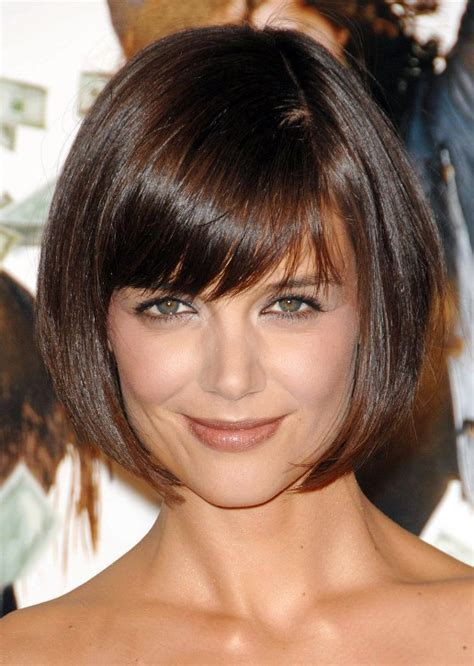 how to cut a katie holmes bob katie holmes short haircut cute box bob cut with bangs