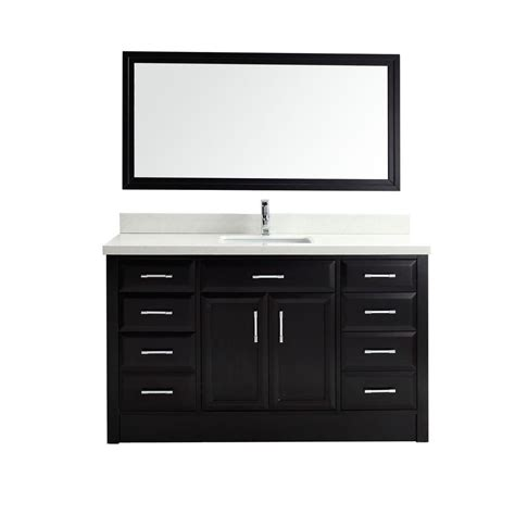 studio bathe calais 63 in vanity in espresso with solid surface studio bathe calais 60 in vanity in espresso with solid