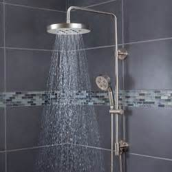 bathroom add shower experience with rainfall shower