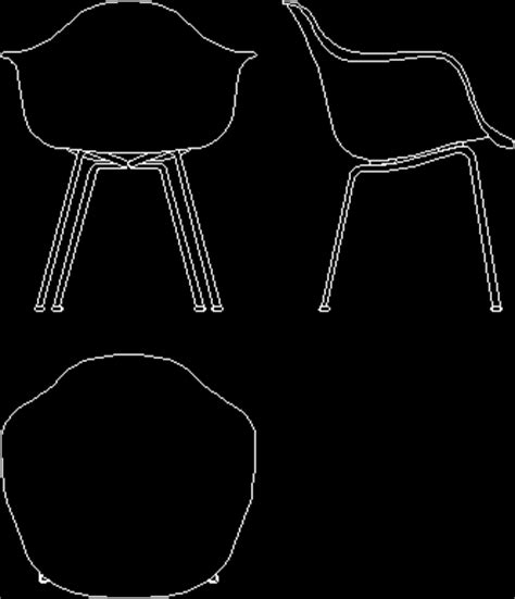 eames lounge chair cad block charles eames plastic shell chair 1948 in autocad