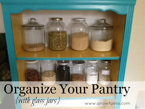 organize your pantry with glass jars