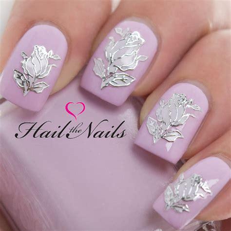 Nagel Aufkleber Hochzeit by Nail Art Wraps Self Adhesive Stickers Flowers Decals Y610