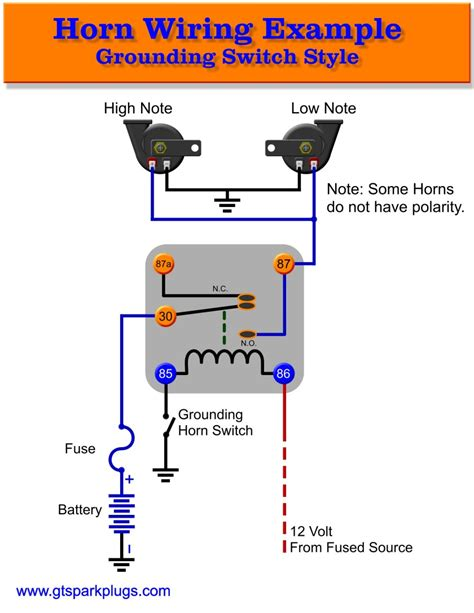 car horn relay wiring schematic wiring diagram with