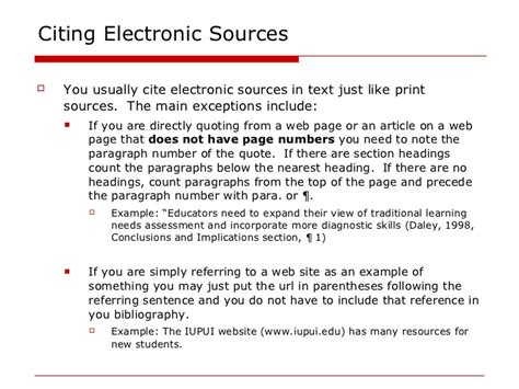 apa format exle website how to cite a website in an essay how to cite a website