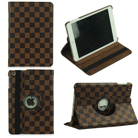 2 3 4 360 Rotating Leather Smart for 2 3 4 air air2 mini 360 rotating grid pu leather