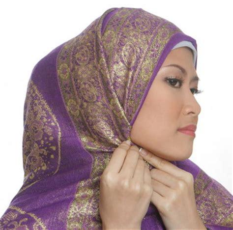 Kerudung Pashimina Corak tips dan cara memakai jilbab pashmina