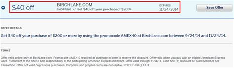 Add Address To American Express Gift Card - birch lane amex offer