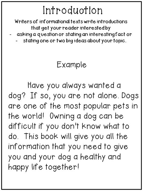 Informative Essay Introduction Exles by Writing Informational Text Step By Step Third Grade Doodles