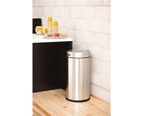 simplehuman swing top trash can simplehuman 55l steel swing top commercial trash can