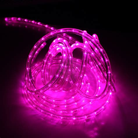 8m led pink purple rope light flashing multi function