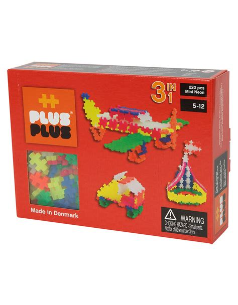 Block Science 3 In 1 plus plus mini neon 3 in 1 building blocks 220 pcs