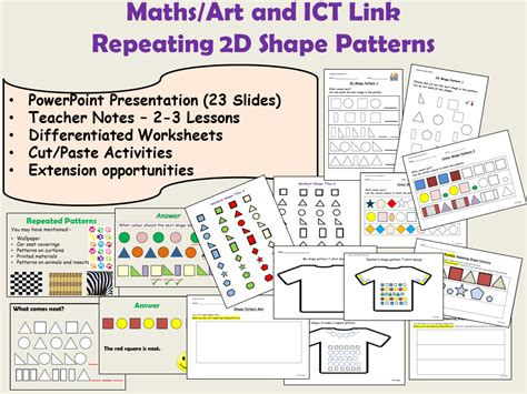 shape pattern lesson ideas early years cross curricular topics teaching resources