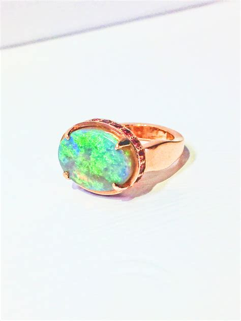 tourmaline opal tom s custom designs opal and pink tourmaline ring fox