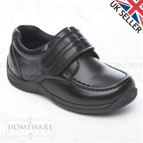 school shoes size 4 school shoes boys black leather manmade slip on lace up uk