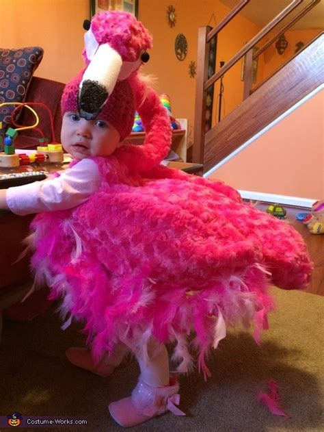 pink flamingo baby halloween costume