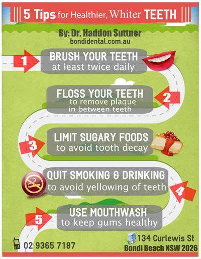 5 Tips For Whiter Teeth by 5 Tips For Healthier Whiter Teeth Bondi Dental