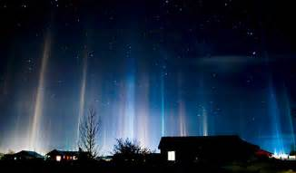Light Pillars by Light Pillar Pictures Mysterious Sky Shows Explained