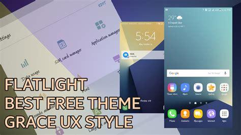 free themes galaxy v flat light new best free theme note 7 style galaxy