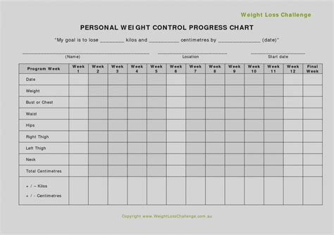 weight loss record card template collection blank food diary template 5 free journal