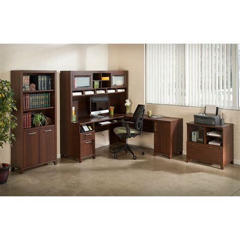 amazon l shaped computer desk amazon com achieve l shaped desk with hutch kitchen dining