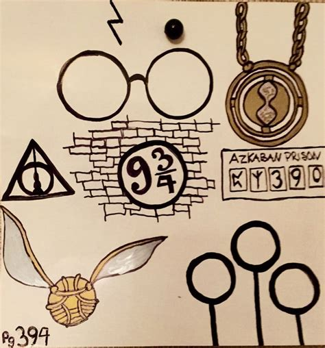 doodle harry potter i procrastinate writing papers by doing harry potter