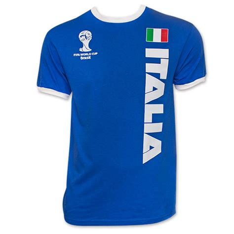 Tshirt Italia fifa italy ringer soccer t shirt