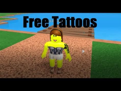 get a free tattoo how to get free tattoos in roblox roblox high school