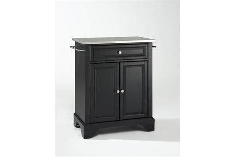 crosley furniture lafayette stainless steel top black lafayette stainless steel top portable kitchen island in