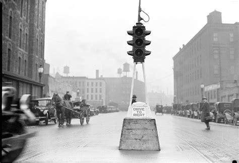 first electric street lights the stoplight celebrates its centennial first traffic