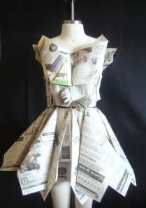 newspaper dress craft ideas newspaper