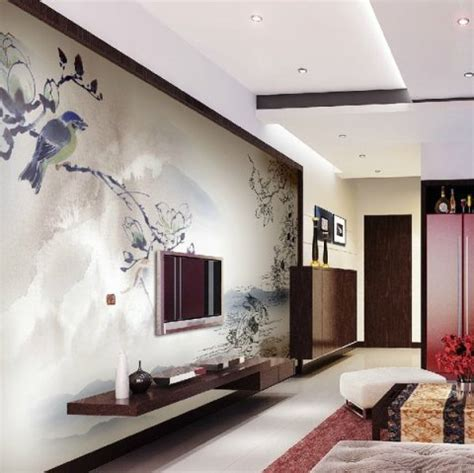 modern interior design with fresco wall murals inspired by modern living room interior design ideas interior design