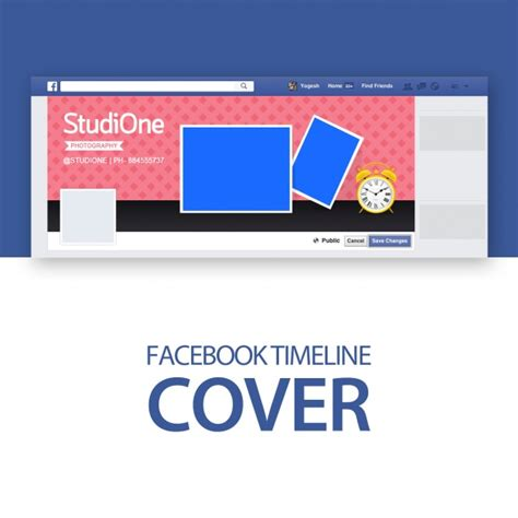 facebook cover template psd file free download
