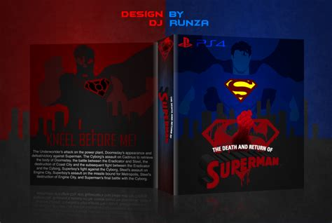 ps4 themes superman the death and return of superman playstation 4 box art