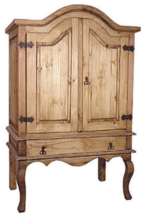 mexican pine armoire rustic pine entertainment armoire rustic media storage