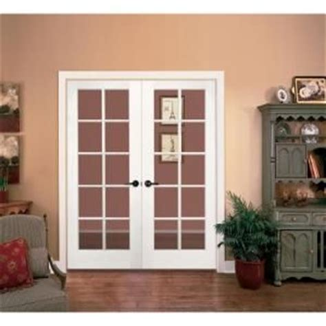 prehung interior french doors home depot jeld wen smooth 10 lite primed pine prehung interior